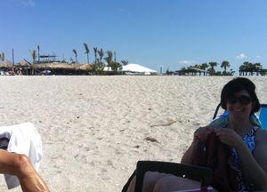 Beach knitting 1