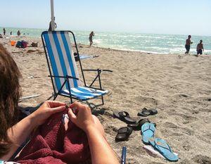 Beach knitting 2