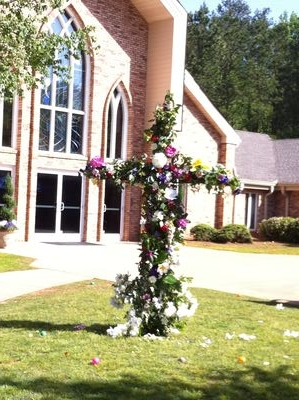 2011 flowered cross